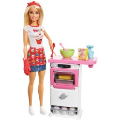 BARBIE Комплект за игра с кукла готвач I CAN BE COOKING AND BAKING FHP57