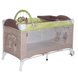 LORELLI CLASSIC Кошара на 2 нива ARENA  PLUS BEIGE&GREEN BEARS 1008013/1629