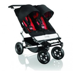 MOUNTAIN BUGGY  Количка за близнаци DUET Black&Red