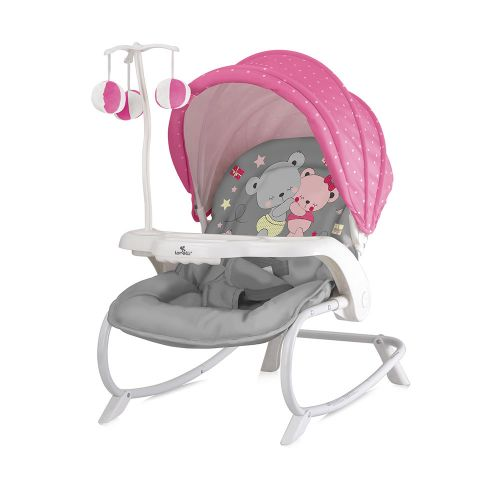 LORELLI CLASSIC Шезлонг DREAM TIME PINK&GREY ZAZA 1011006/1817