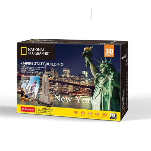 CubicFun 3D Пъзел EMPIRE STATE BUILDING NATIONAL GEOGRAPHIC DS0977h - 1