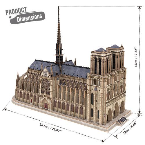 CubicFun 3D Пъзел NOTRE DAME DE PARIS MASTER COLLECTION MC260H - 4