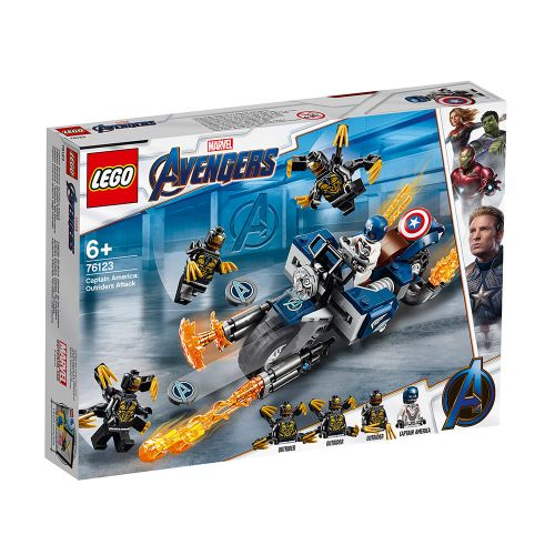 LEGO SUPER HEROES Captain America: Нападение на Outriders 76123 - 1