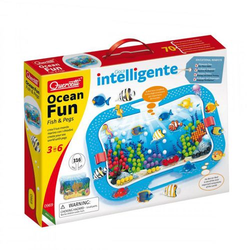 QUERCETTI Мозайка 316 части OCEAN FUN FISH AND PEGS 969 - 1