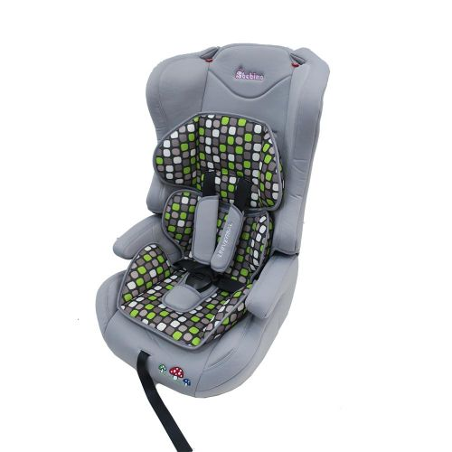 BEBINO Стол за кола 9-36 кг. UNIVERSAL LIGHT GREY/GREEN CUSHION - 2