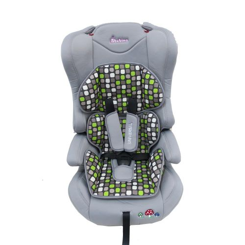 BEBINO Стол за кола 9-36 кг. UNIVERSAL LIGHT GREY/GREEN CUSHION - 1