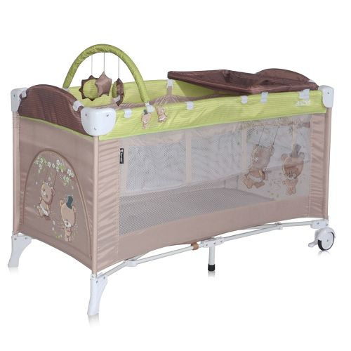 LORELLI CLASSIC Кошара на 2 нива ARENA  PLUS BEIGE&GREEN BEARS 1008013/1629 - 1