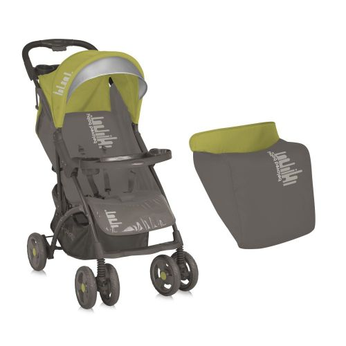 LORELLI CLASSIC Количка SMARTY с покривало BEIGE&GREEN BELOVEDBABY - 1