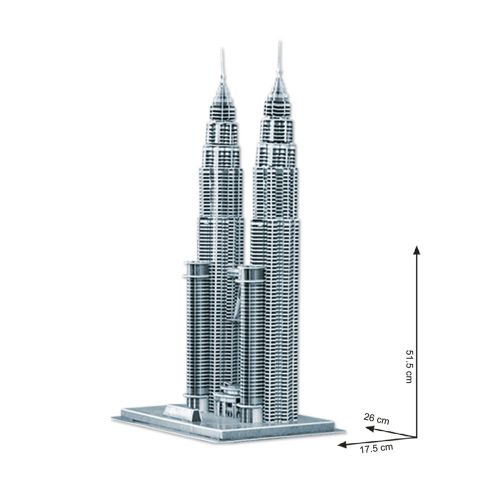 CubicFun 3D Пъзел PETRONAS TOWERS MC084h - 2