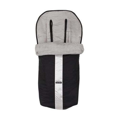 MACLAREN Чувалче TECHNO XT FOOTMUFF BLACK/SILVER STRIPE         ASE10032 - 1