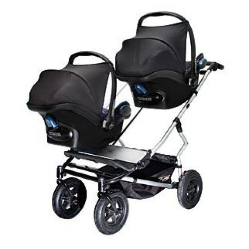 MOUNTAIN BUGGY  Количка за близнаци DUET Black&Red - 1
