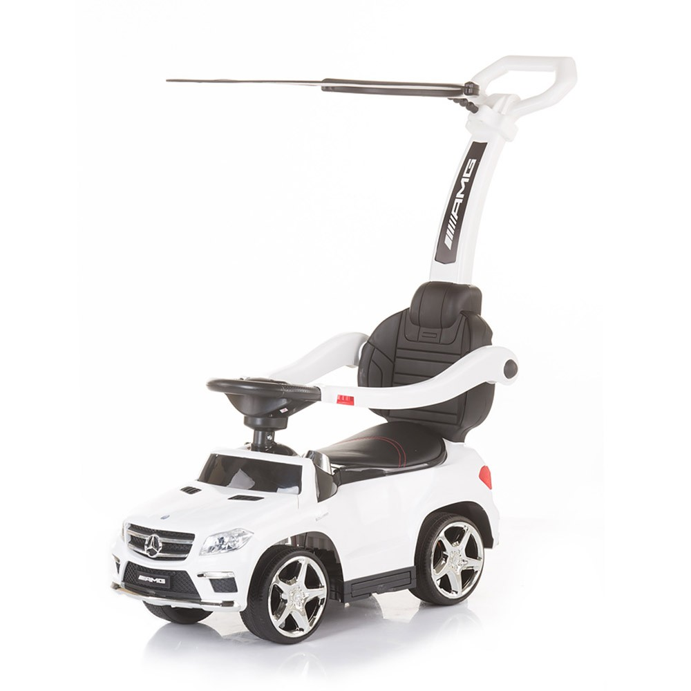 CHIPOLINO Ride-on с дръжка и сенник MERCEDES BENZ GL63 AMG БЯЛ ROCAMGC181WH