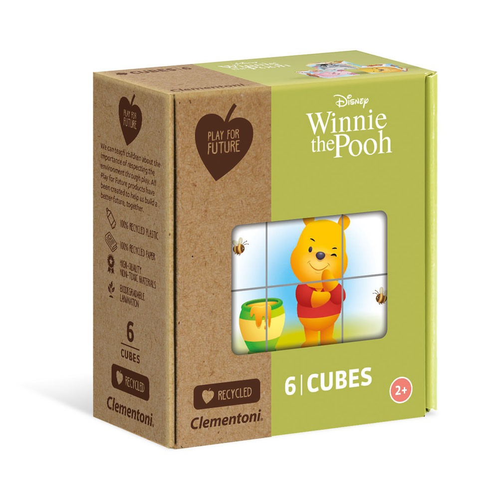 CLEMENTONI Play For Future 6ч. Кубчета Winnie The Pooh 44001