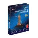 CubicFun 3D Пъзел с LED светлини EMPIRE STATE BUILDING L503h