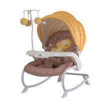 LORELLI CLASSIC Шезлонг DREAM TIME BEIGE&YELLOW MY BABY 1011006/1809