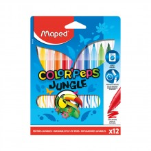 Арго Maped Флумастери Color Peps Jungle, 12 цвята 9845420