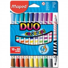 Арго Maped Флумастери Color'Peps Duo 10+10 цвята 9847010