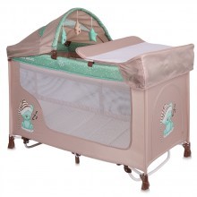 LORELLI CLASSIC Кошара на 2 нива SAN REMO ROCKER BEIGE&GREEN SLEEPING BEAR 1008009/1802