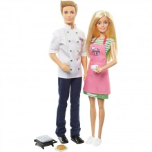 BARBIE Комплект за игра с Барби и Кен I CAN BE COOKING AND BAKING FHP64