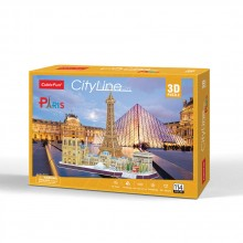 CubicFun 3D Пъзел CITY LINE PARIS MC254h