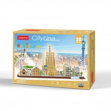 CubicFun 3D Пъзел CITY LINE BARCELONA MC256h