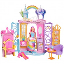 BARBIE Замък с кукла DREAMTOPIA RAINBOW COVE FRB15