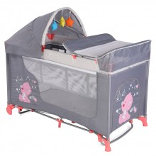 LORELLI CLASSIC Кошара на 2 нива MOONLIGHT ROCKER PINK&GREY MY BABY 1008042/1878