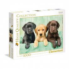 CLEMENTONI Пъзел HQ COLLECTION I TRE LABRADOR 39279