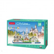 CubicFun 3D Пъзел CITY LINE BAVARIA MC267h