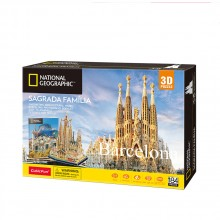 CubicFun 3D Пъзел BARCELONA SAGRADA FAMILIA NATIONAL GEOGRAPHIC DS0984h