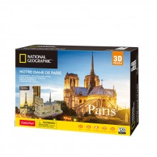 CubicFun 3D Пъзел PARIS NOTRE DAME DE PARIS NATIONAL GEOGRAPHIC DS0986h