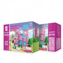 MAGNETIC BLOCKS Конструктор 38 части HOUSE РОЗОВ OTG0903373