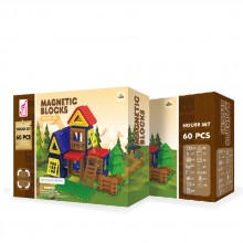 MAGNETIC BLOCKS Конструктор 60 части HOUSE КАФЯВ OTG0903364