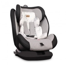 LORELLI PREMIUM Стол за кола 0-36 кг. CORSICA ISOFIX BLACK&GREY CITIES 1007126/1972