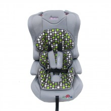 BEBINO Стол за кола 9-36 кг. UNIVERSAL LIGHT GREY/GREEN CUSHION