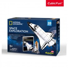 Cubic Fun Пъзел 3D National Geographic Космическа совалка Space Exploration 65ч. DS0970h