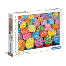 CLEMENTONI 500ч. Пъзел High Quality Collection Colorful cupcakes 35057