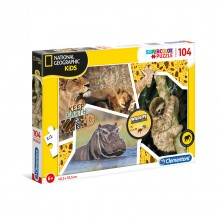 CLEMENTONI 104ч. Пъзел National Geographic Wildlife Adventurer 27143