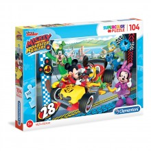 CLEMENTONI 104ч. Пъзел Mickey and the Roadster Racers 27984