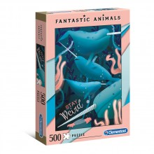 CLEMENTONI 500ч. Пъзел Fantastic Animals Нарвал 35070