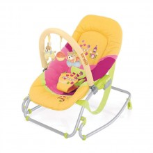 BREVI Шезлонг BABY ROCKER SOFT TOY ЖЪЛТ/РОЗОВ 558/091