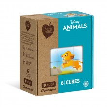 CLEMENTONI Play For Future 6ч. Кубчета Disney Animals 44004