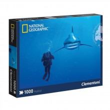 CLEMENTONI Пъзел NATIONAL GEOGRAPHIC Whitetip Shark