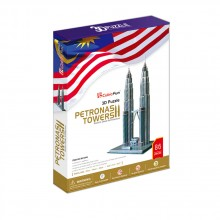 CubicFun 3D Пъзел PETRONAS TOWERS MC084h
