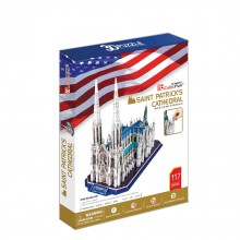 CubicFun 3D Пъзел St.PATRICK'S  CATHEDRAL MC103h