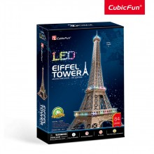 CubicFun 3D Пъзел с LED светлини EIFFEL TOWER L091h