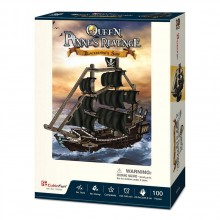 CubicFun 3D Пъзел КОРАБ THE QUEEN ANNE'S REVENGE T4035h