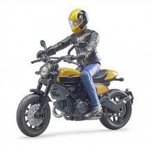 BRUDER Мотоциклет SCRAMBLER DUCATI FULL THROTTLE с водач 63053